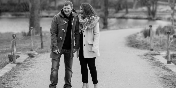 Kim and McKenzie - Prewedding shoot at Pitfour Lake, Aberdeenshire.