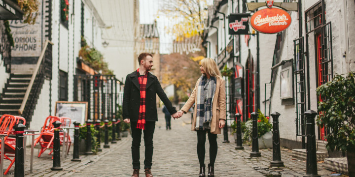 Kerry Jo and Paul - Ashton Lane Engagement Shoot In Glasgow